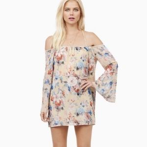 Floral Strappy Bell Sleeve Dress